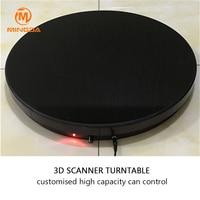 Placa giratoria de escáner 3D  placa giratoria profesional de 100Kg  capacidad máxima  escáner 3D  placa giratoria de Control remoto de carga rápida  placa giratoria 3Ds 3|Escáneres 3D|Ordenadores y oficina -