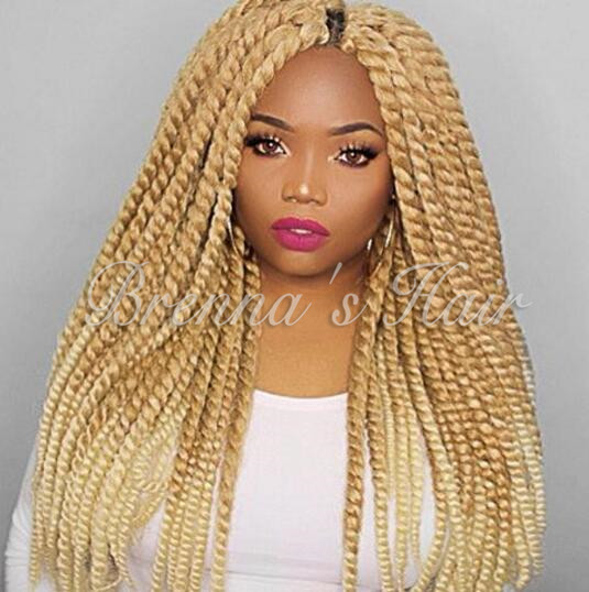 Ombre 27613 Blonde Color Havana Mambo Twist Crochet Hair Havana