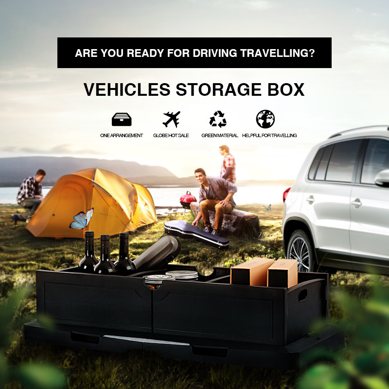 Car Storage Box Folding Trunk Bag Vehicle Toolbox Multi-function Sundries Organizer the bag use in the Rear Rack box Storage Car uwinka mc u6c multi in 1 water resistance shockproof memory card storage box red