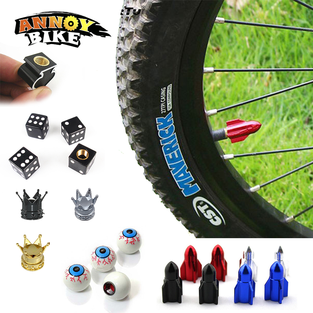 Велосипедные клапаны Кепки велосипед Клапан Кепки с шайбой MTB колеса велосипеда шин покрыта 7 Цвета Водонепроницаемый протектор велосипед ...