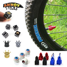 Bicycle Valve Cap Bike Valve Cap with Washer MTB Bike Wheel Tire Covered 7Colors Waterproof Protector Bike Schrader Valve Cap(China)
