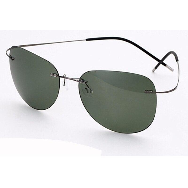 100% titan Silhouette sonnenbrillen Polaroid super Licht Marke Designer Randlose Polaroid Gafas Männer Polarisierte sonnenbrille brillen