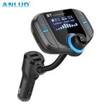 Bluetooth fm-передатчик Беспроводной радио в автомобиле автомобильный адаптер Комплект с Quick Charge 3,0 + 5 V/2.4A smart IC Dual USB Автомоби
