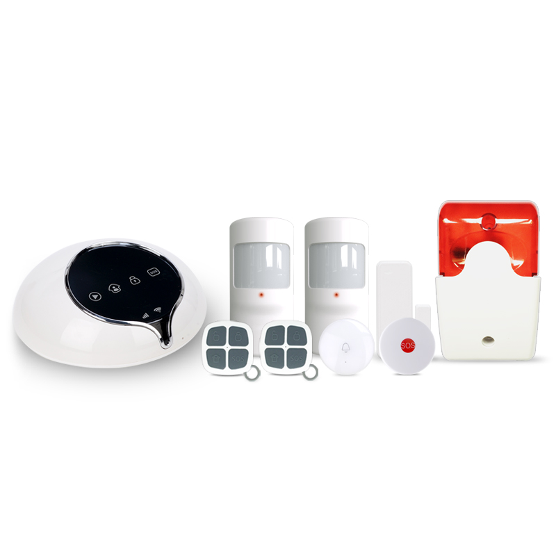 App controlled home security 3G alarm system & smart EU/AU/US WCDMA wireless home alarm system work with wireless outdoor siren