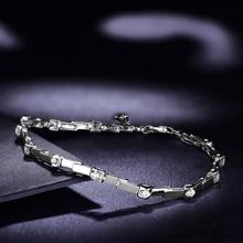 Natural Diamond Bracelet for Women 0 30ct 12pcs Diamond Jewelry 18K White Gold 18cm Length Handmade