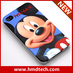 FREE SHIPPING 1 PCS Retail wholesale  2013 carton for mickey mouse  plastic hard cover for iphone 4