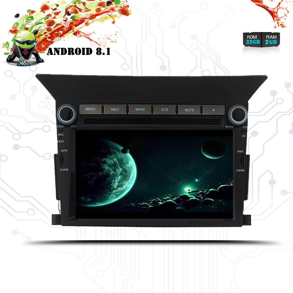 Android 8.1 DIN 2 Car DVD Stereo Player <font><b>GPS</b></font> Glonass Navigation <font><b>for</b></font> <font><b>Honda</b></font> <font><b>Pilot</b></font> 2009 2010 11 2012 Auto Radio RDS Audio Head Unit image