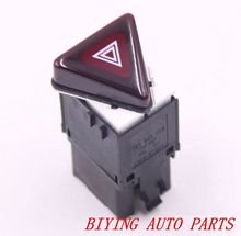 VW OEM Dark Red Triangle Hazard Switch For Jetta MK5 18G953509 18G 953 509