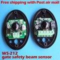 Envío gratis 1 par de Alta Sensibilidad Puerta Activo Infrarrojo Detecta Sensores de haz fotoeléctrico para abridor de Puerta de Seguridad de protección