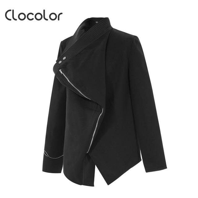 ecc74a96e Clocolor 2017 Fashion New Arrival Black Women Jacket Long Sleeve ...