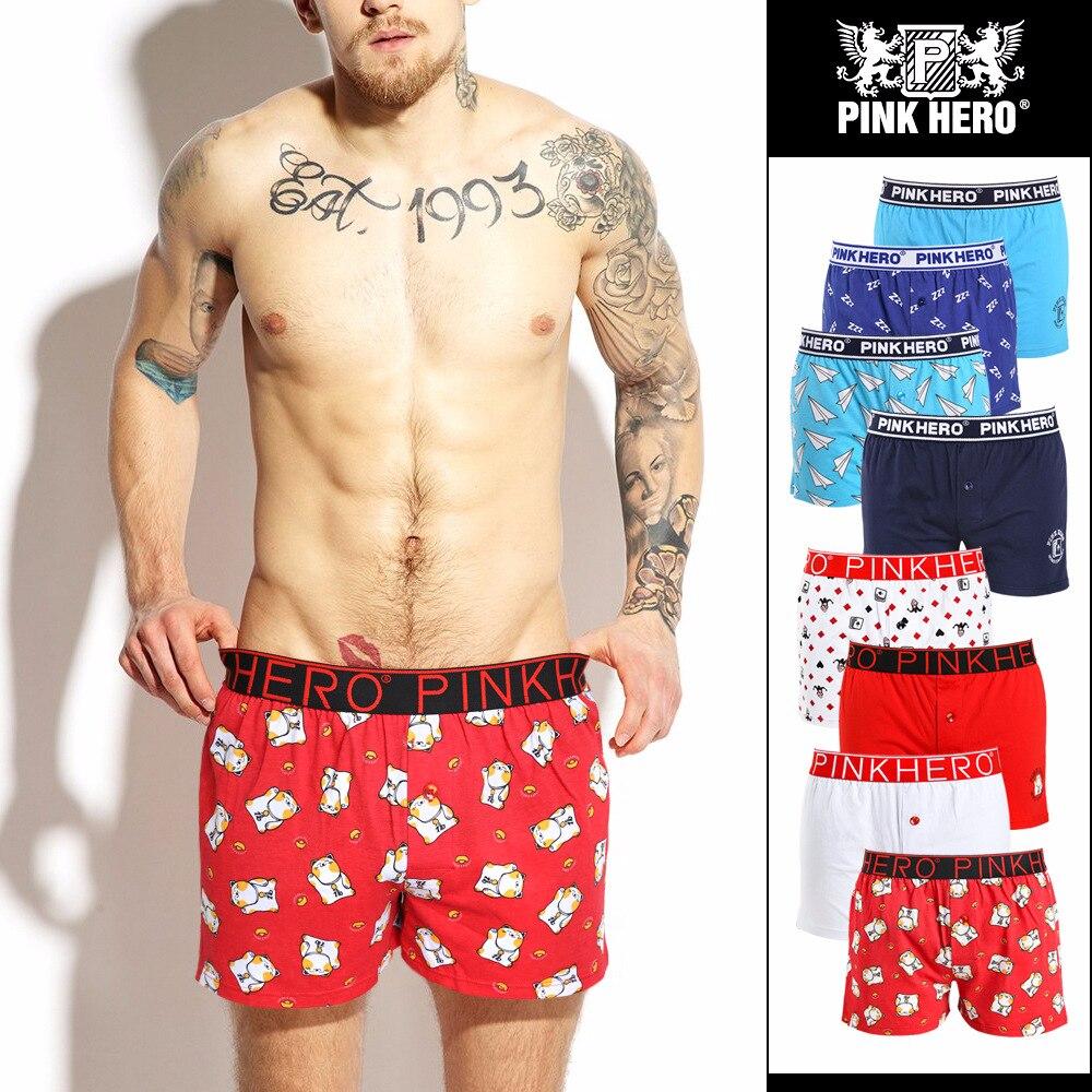 2018 new arrival Fashion cartoon print home men sexy underwear cotton plains men Arrow pants gay comfortable boxers