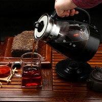 Chaleira elétrica Escritório fabricado chá ware de vidro preto de vapor elétrico totalmente automático pequeno bule capacidade Proteção Anti-seca