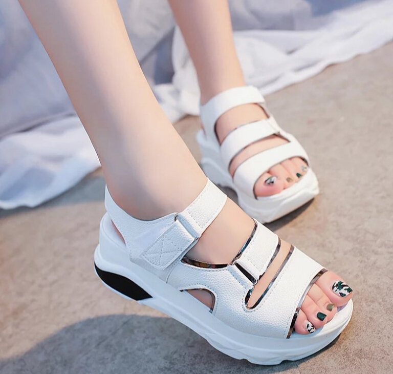 2017Summer shoes woman Platform High heels Sandals Women Soft Leather Casual Open Toe Gladiator wedges Women Shoes zapatos mujer 2017 gladiator summer shoes woman platform sandals women flats soft leather casual open toe wedges sandals women shoes r18