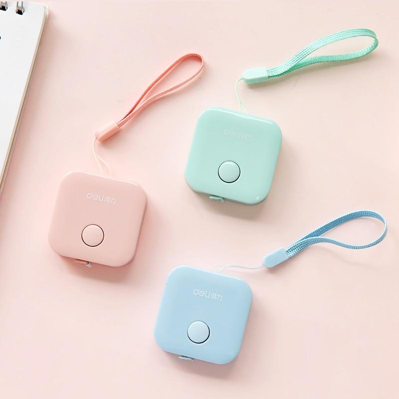 MIRUI 1.5m*7mm Tape Measure Macaron Candy Color Leather Ruler Box Portable Fashion Design School Supply