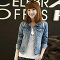 1 Pcs Autumn Spring Long Sleeve Women Denim Jacket Frayed Jeans Jacket Women Oversized Jean Coat Plus Size Girls Outwear