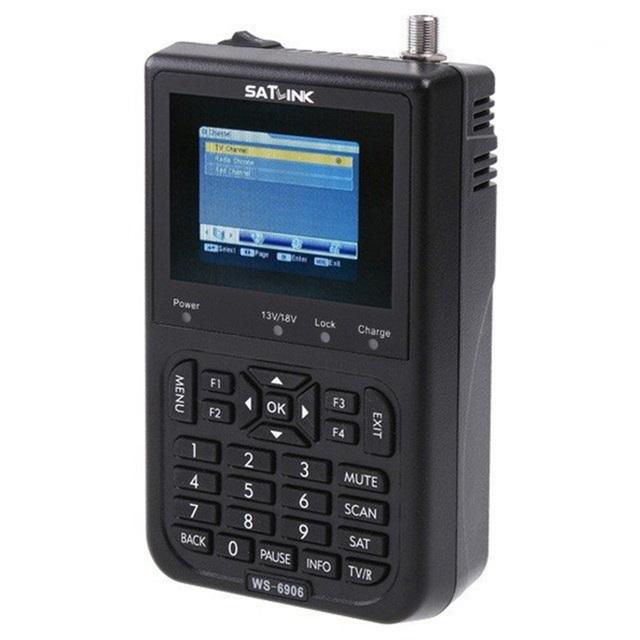 """Anewkodi original satlink ws-6906 3.5 """"dvb-s fta localizador via satélite medidor de satélite digital ws 6906 satlink ws6906 livre grátis"""