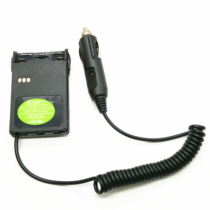 Car Battery Charger Eliminator Adaptor For PUXING PX-328 PX 777 PX777+ PX888 PX888K