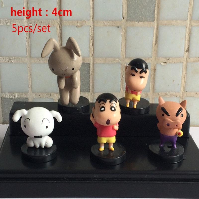 2016 hot sale  5Pcs/set Anime Cartoon Crayon Shin Chan PVC Action Figure Collection Model Doll Toys 4cm Approx Retail цена 2016