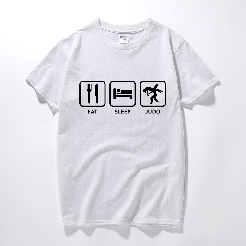 Eat Sleep Judo Repeat Funny T Shirt T-Shirt Tshirt For Men 2018 Summer Style Short Sleeve 100% Cotton Round Neck Geek Tops Tee