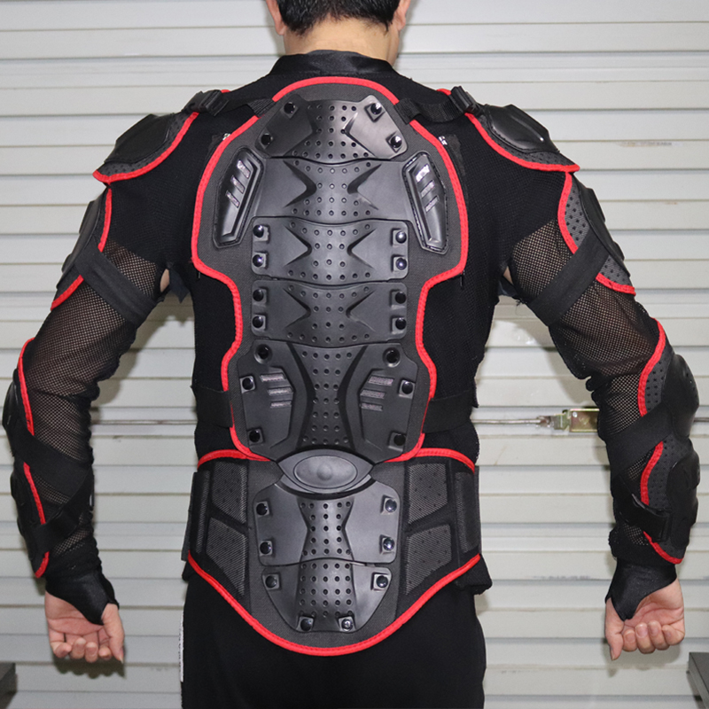 Motorcycle jacket Protective Armor Jackets Protection Motocross Clothing Protector Back Protector Racing Full body Jacket herobiker armor removable neck protection guards riding skating motorcycle racing protective gear full body armor protectors