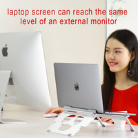 portable aluminum Folding Portable Dual-purpose design Aluminum Alloy Laptop Stand Bracket Cooler Cooling Pad for 10-17inch Notebook (2)