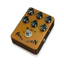 Joyo hor 14 pedal de efeito de guitarra elétrica, true bypass, design americano, simulador de som, pedal de efeito de guitarra elétrica