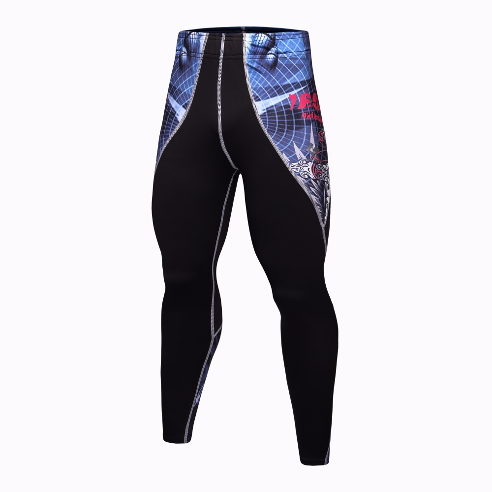 2017 Mens Workout Fitness Compression Pants Tights Leggings Bottom Crossfit Weight Lifting Bodybuilding Skin Fitness Trousers