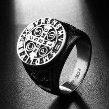Мужские церковные украшения из нержавеющей стали серебряный тон Крест Писание кольцо для мужчин святой Бенедикт CSPB свадебное кольцо Exorcism подарок RN01