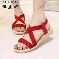 STAINLIZARD 15 Colors Women Flats Sandals Fashion Casual Beach Sandals Bohemian Flat Shoes Wild Women Summer