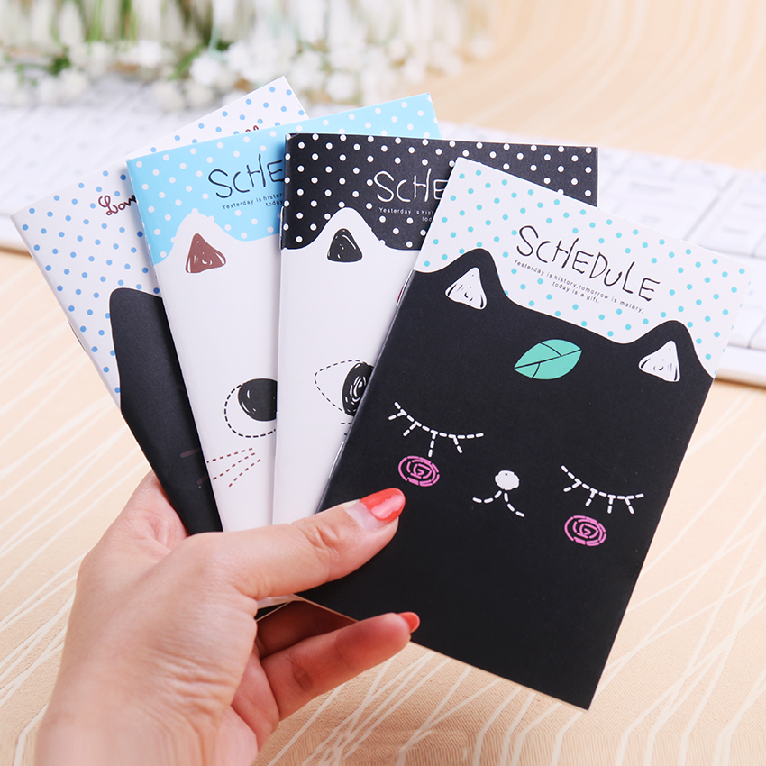 Cute Mini Cat Style Filofax Notebook Students Diary Notepad Office School Stationery