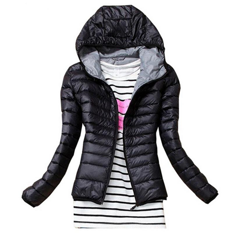 2017 New Fashion Parkas Female Down Jacket Women Clothing Thin Coat Overcoat Women Jacket Parka Black