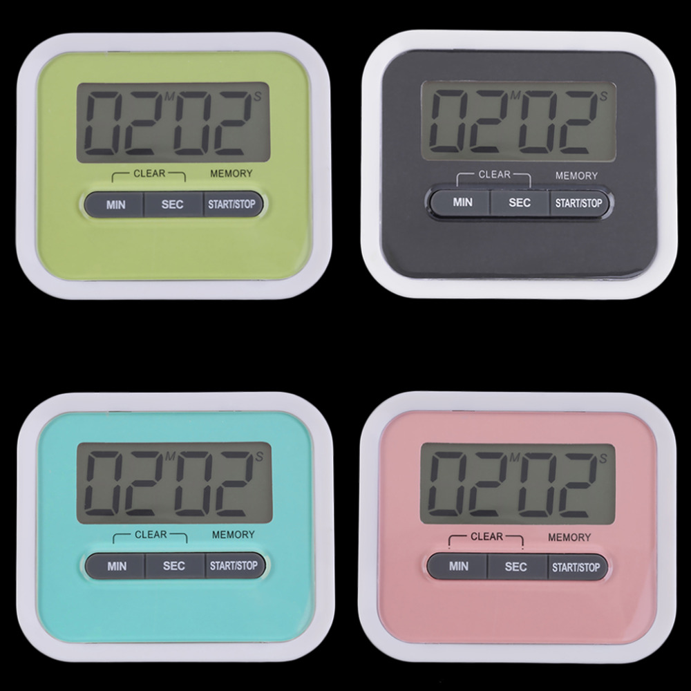 Large multifunction lcd kitchen cooking timer count down for Brands of alarm clocks