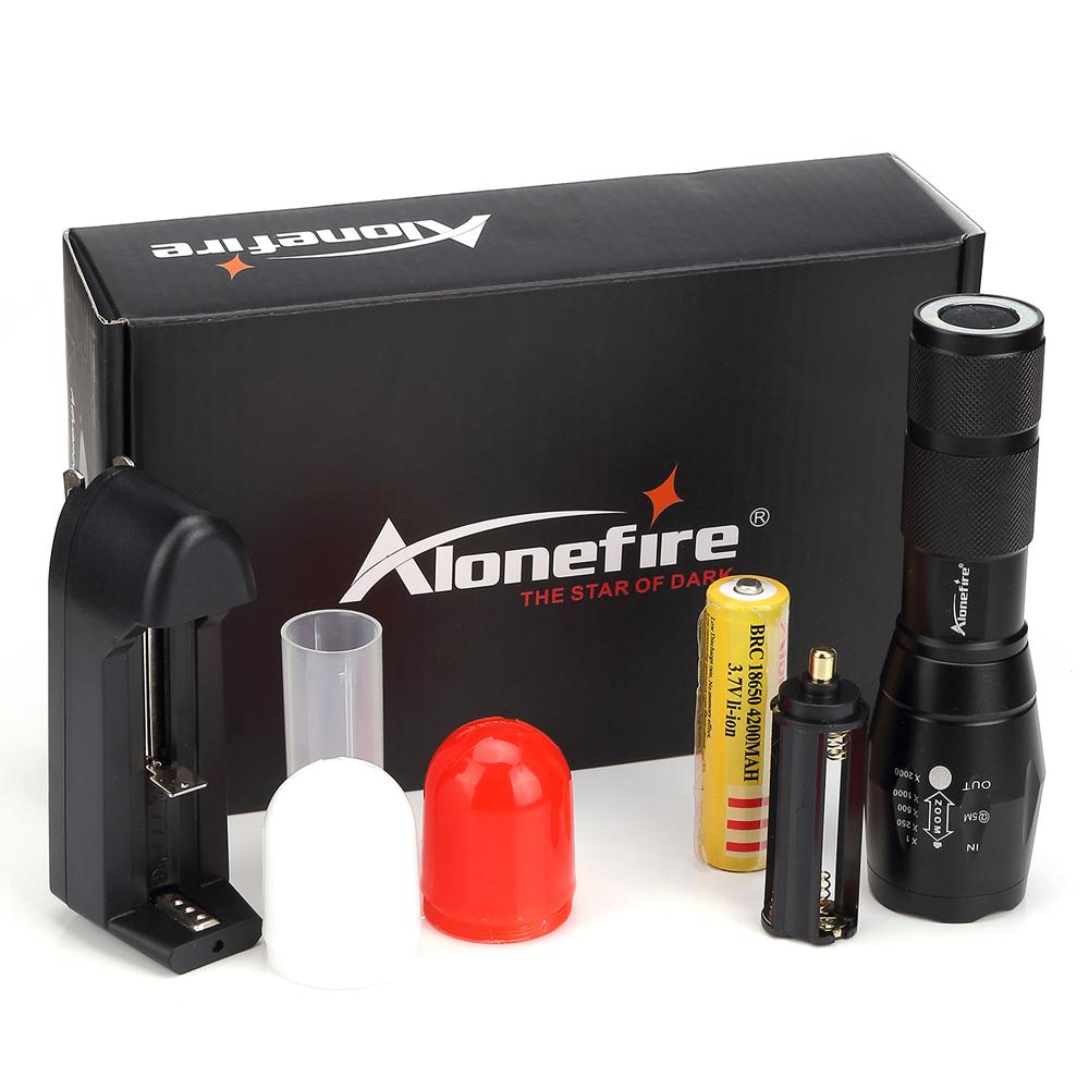 Alonefire NEW led Flashlight diffusers 700-M CREE XML T6 LED Camping Zoom led Flashlight torch Red car signal light surpresa v diffusers