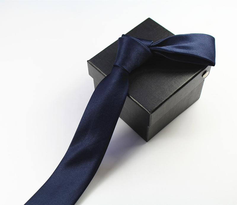 JEMYGINS Qualität Mens Krawatte Solide Plain 100% Seide Dünne - Bekleidungszubehör - Foto 4