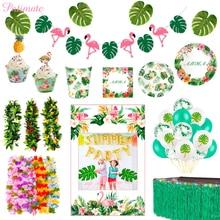 PATIMATE Flamingo Decoration Hawaii Party Decorations Summer Tropical Hawaiian Favors Supplies Luau Aloha Decor