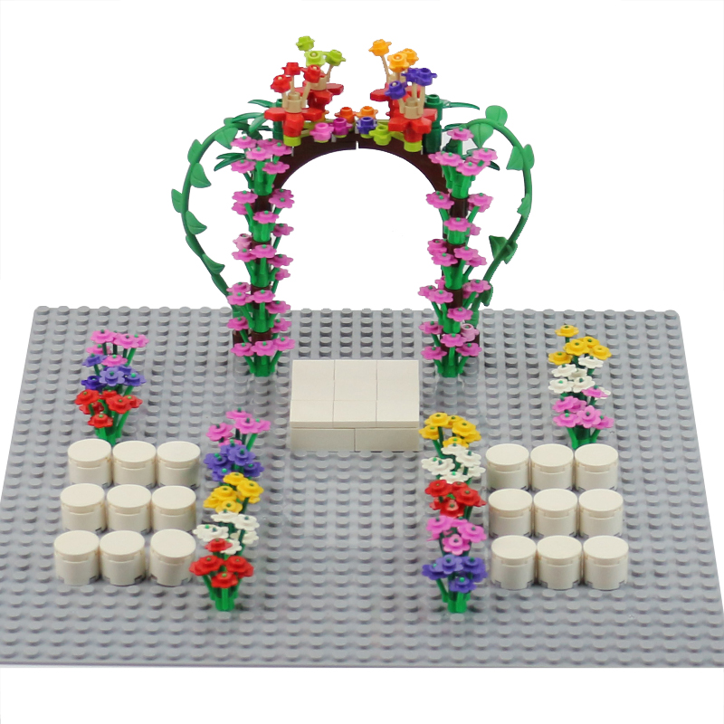 Toys For The Honeymoon : City block series wedding scene moc particles garden