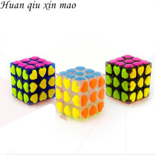 Love Puzzle Magic Cube 3x3x3 Cubo Magico Puzzle Speed Classic Magic Toys For Children Colorful Cute Cube Learning Toys strange sharp magic speed cube educational learning toys for children kids gift puzzle speed cube challenge magico cubo toy