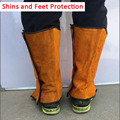Welders Feet and Shins Shoes Cover Boots Protector Anti-fire Sputtering Protection For Welding Metallurgy Feet Protection