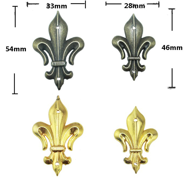 4Pcs Antique Brass Furniture Decorative Corner Brackets Jewelry Box Wood Case Feet Leg Vintage Metal Corner Protector with Screw 12pcs antique metal decorative protective corners jewelry box gift wood case feet leg corner guard for furniture 24 screws