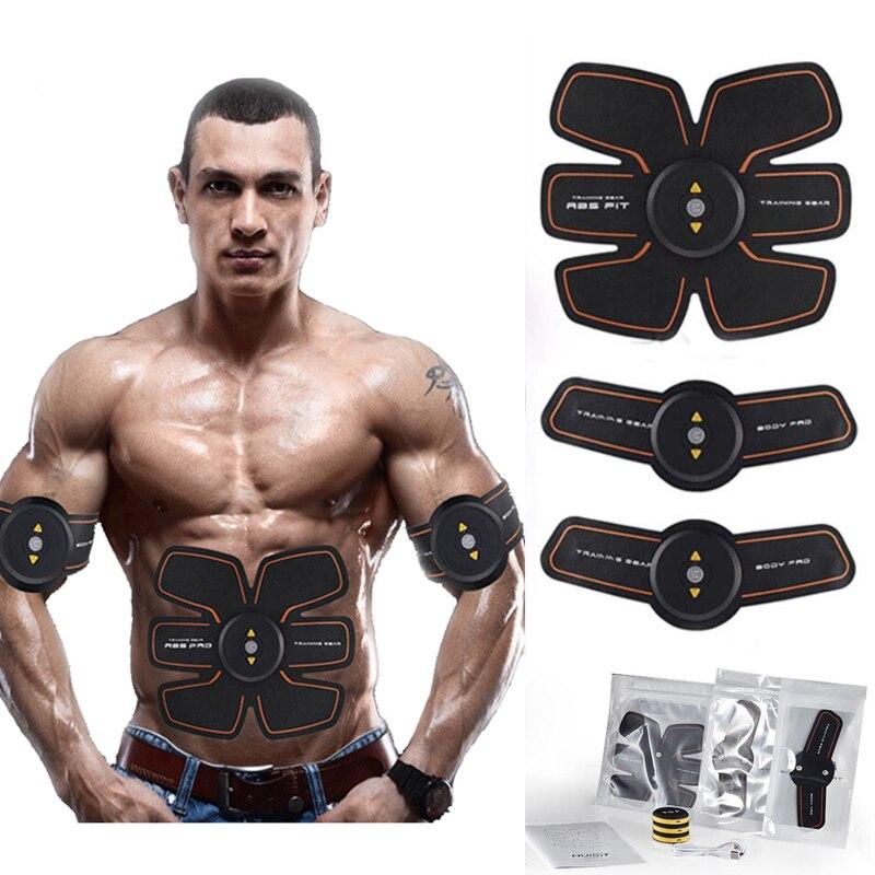 EMS Wireless Smart Addominale Muscolo Stimolatore Elettrico Massaggiatore Perdita di Peso Sport Trainer Ricaricabile Del Corpo Sottile Cintura Unisex