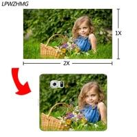 LPWZHMG Benutzerdefinierte DIY Foto Hartplastik Flip Fall Für Samsung Galaxy S6 S7 rand S8 Plus S3 S4 S5 J5 J7 Fall Mit Kartentasche