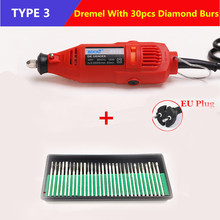 Electric DREMEL Mini Grinder DIY Hand Drill Machine Power Tool with Dremel Accessories Soft Shaft Variable Rotary Engrave