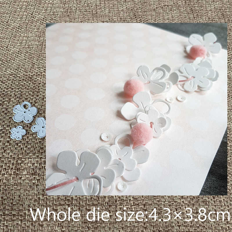 New Design Craft Metal Cutting Die cut die 3pcs cherry blossom decoration scrapbooking Album Paper Card Craft Embossing Die Cuts