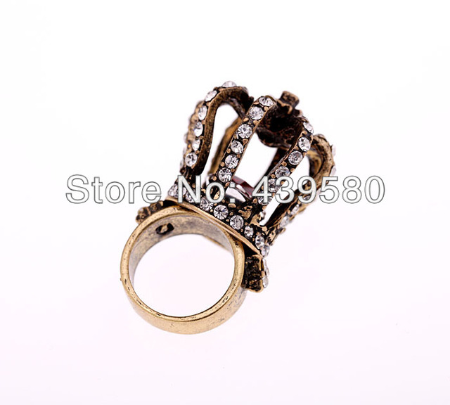 aliexpress buy antique fashion rhinestone crown ring