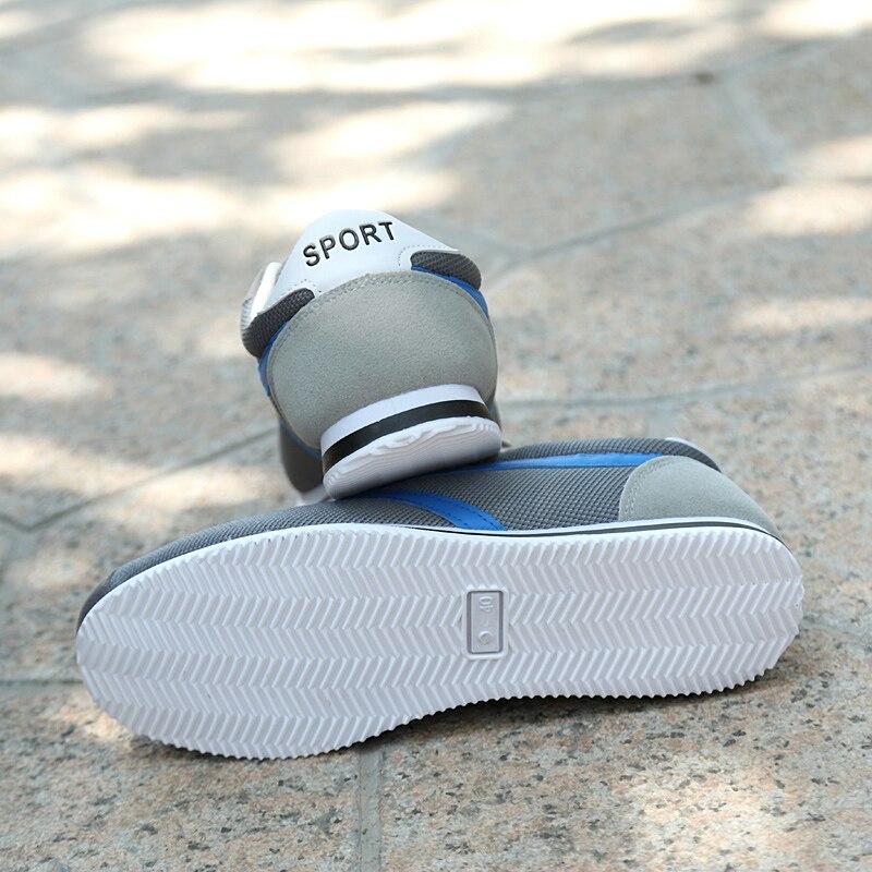 Negro gris Hombres Moda Antideslizante 115 Casual Mesh Transpirable Zapatos azul Otoño Primavera Para Mens Air 6g8nf7