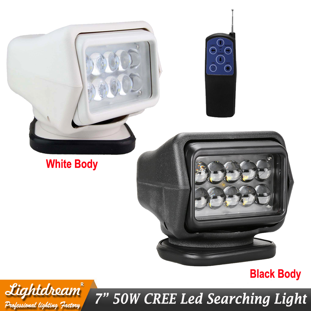 50w LED Work Search Light Remote Control Rotating Handhold Magnetic Boat Fish