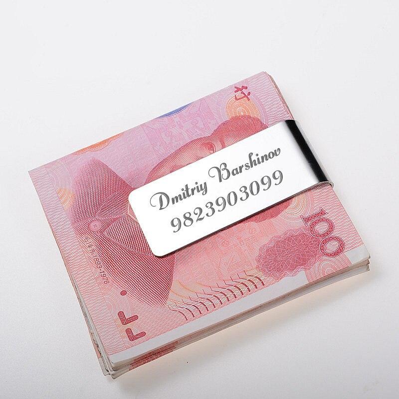 QOONG Edelstahl Anpassbare Geld Clip Bargeld Clamp Halter Tragbare Geld Clip Geldbörse für Tasche Metall Geld Halter