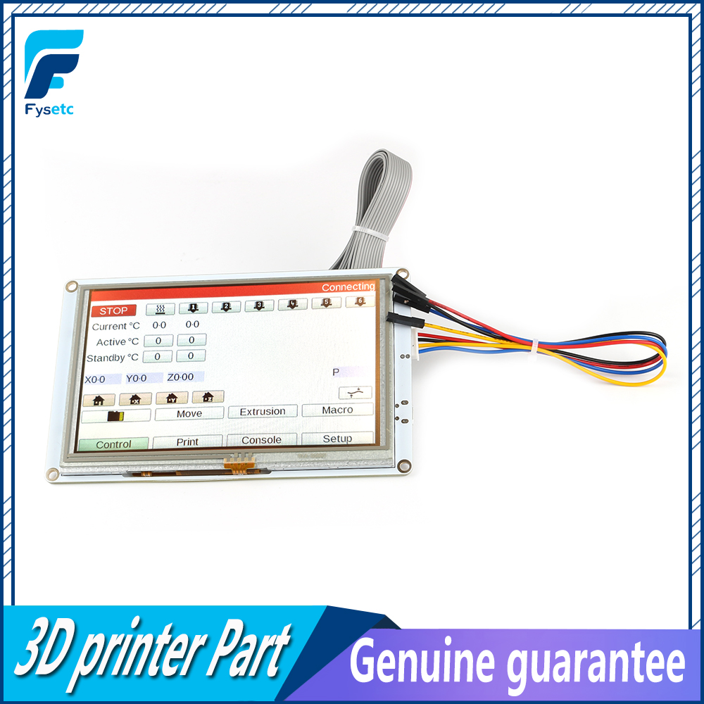 Clone 5'' 7'' 5 Inch / 7inch PanelDue 5i / 7i Integrated Paneldue Colour Touch Screen Controllers For DuetWifi Duet 2 Ethernet