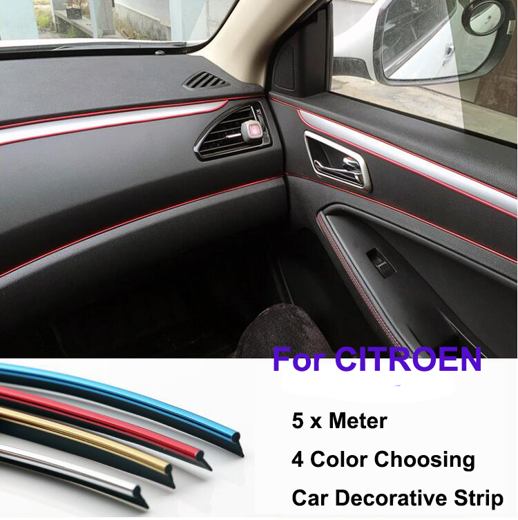5 meter pvc decorative tape auto dash panel trim strip car rein side moulding decoration strip. Black Bedroom Furniture Sets. Home Design Ideas