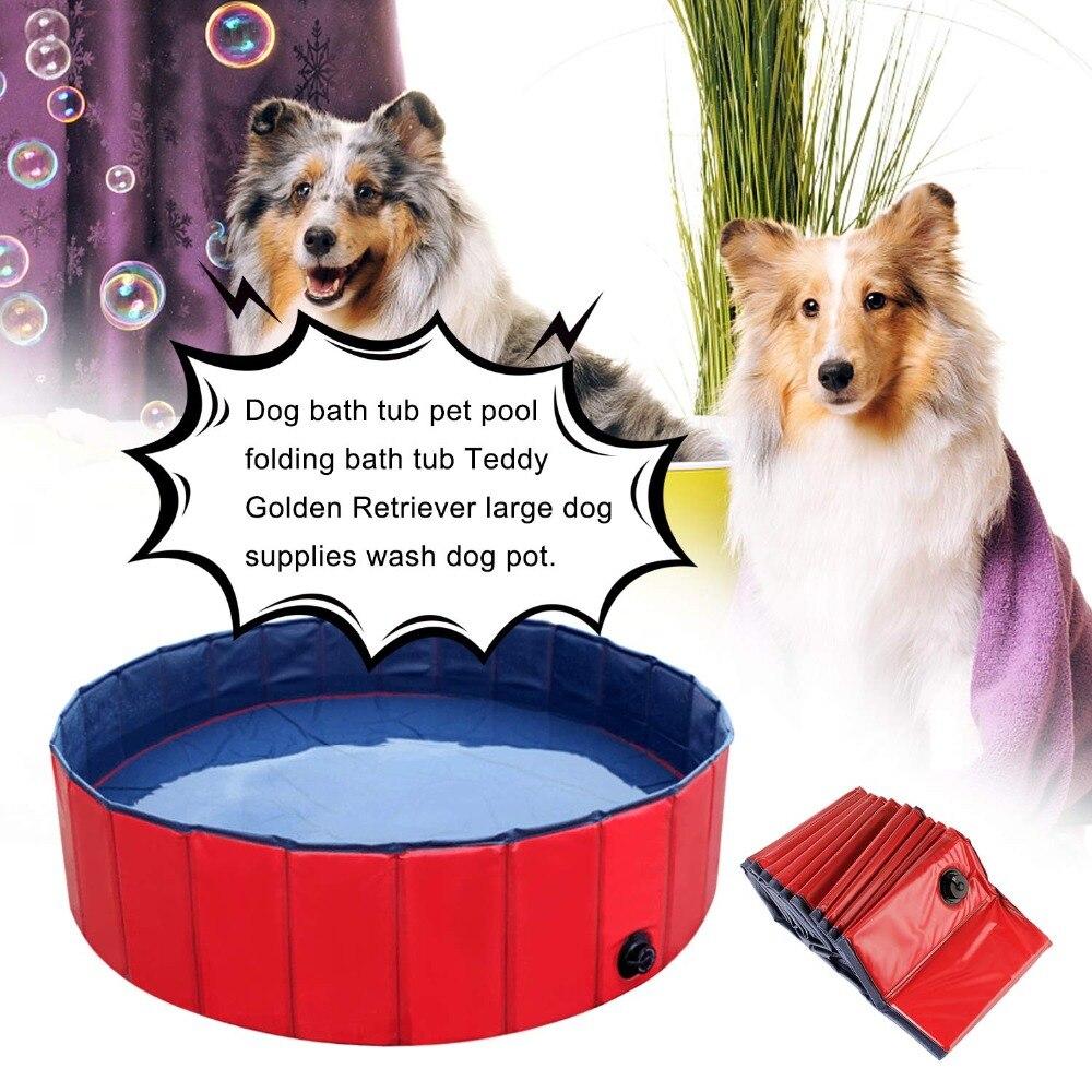 Hundepool chien piscine outil bain pulvérisateurs Pet nettoyant douche Pet fournitures lavage chiens Pet chat baignade pliable PVC bassin piscine 120X30 CM